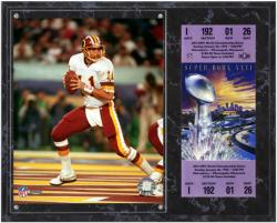 Washington Redskins Super Bowl XXVI Mark Rypien Plaque with Replica Tickets - Mounted Memories