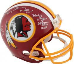 Washington Redskins Super Bowl MVPs Autographed Authentic Helmet - Riggins, Williams, Rypien