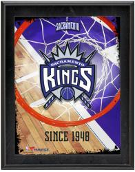 """Sacramento Kings Team Logo Sublimated 10.5"""" x 13"""" Plaque"""