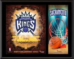 """Sacramento Kings Sublimated 12"""" x 15"""" Team Logo Plaque"""