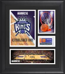 "Sacramento Kings Team Logo Framed 15"" x 17"" Collage with Team-Used Baseketball"