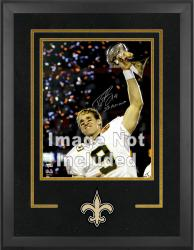 New Orleans Saints Deluxe 16'' x 20'' Vertical Photograph Frame with Team Logo - Mounted Memories