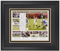 "New Orleans Saints 2009 11"" x 14"" Believe Dat Championship Season Framed Photo Collage - Mounted Memories"