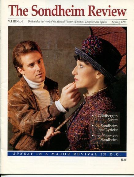 Sal Viviano Liz Larsen Sunday In The Park 1997 Stephen Sondheim Review Magazine