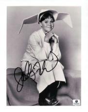 Sally Field Signed 8X10 Photo Autograph Vintage Flying Nun B/W GV689850