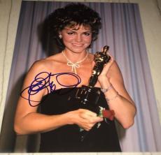Sally Field Signed Autograph Academy Award Oscar Smile Trophy 11x14 Photo Coa