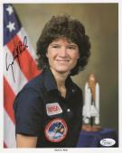 SALLY RIDE HAND SIGNED 8x10 COLOR PHOTO    AWESOME+RARE   NASA ASTRONAUT     JSA
