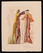 "Salvador Dali Signed Original Divine Comedy Print ""last Word Of Virgil"" Jsa Loa"