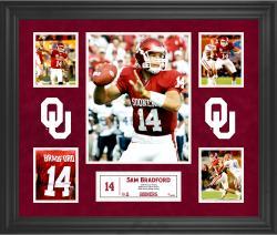 Sam Bradford Oklahoma Sooners Framed 5-Photo Collage
