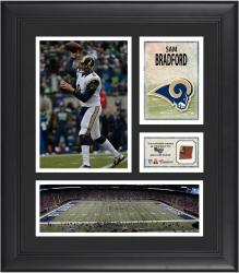 Sam Bradford St. Louis Rams Framed 15'' x 17'' Collage with Game-Used Football - Mounted Memories