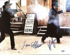 Sam Elliott & Kurt Russell Tombstone Signed 11X14 Photo PSA #AA43291