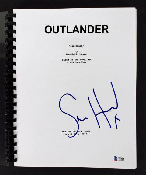 Sam Heughan Signed Outlander TV Pilot (Sassenach) Script BAS #F99151