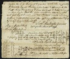 "Sam Huntington ""Governor"" Of Ct Signed 6.75X8 1790 Document PSA/DNA #W03180"