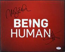 Sam Huntington & Meaghan Rath Being Human Signed 11X14 Photo PSA/DNA #T50719