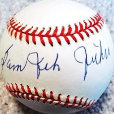 """Sam """"jet"""" Jethroe (d.2001) 1950 Roy (boston Braves) Signed Onl Baseball Psa/dna"""