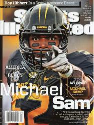 Autographed Michael Sam Sports Illustrated Magazine 2/17/14