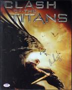 Sam Worthington & Gemma Arterton Clash Of Titans Signed 11X14 Photo PSA #T50645