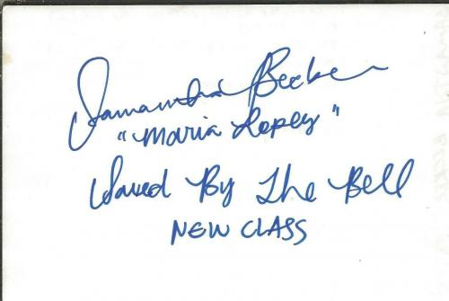 Samantha Becker Esteban Signed 4x6 Index Card Saved by the Bell Training Day