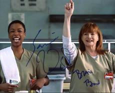 Samira Wiley & Blair Brown Orange Is The New Black Signed 8X10 Photo BAS #B71958
