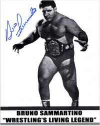"Bruno Sammartino Autographed 8"" x 10"" Wrestling Living Legend Photograph"