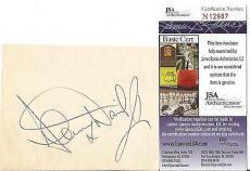 "Sammy Davis Jr Music Legend ""the Rat Pack"" Signed Autograph 4x4 Jsa Coa #n12987"