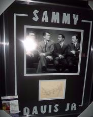 "Sammy Davis Jr ""the Rat Pack"" Signed Auto Double Matted & Framed Jsa Coa Rare"