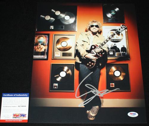 Sammy Hagar signed 11 x 14, Van Halen, Chicken Foot, Montrose, PSA/DNA AB62661