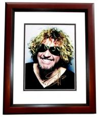 Sammy Hagar Signed - Autographed Van Halen Singer 8x10 inch Photo MAHOGANY CUSTOM FRAME - Guaranteed to pass PSA or JSA