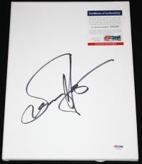 Sammy Hagar signed canvas, Van Halen, Chicken Foot, Montrose, PSA/DNA Z51224
