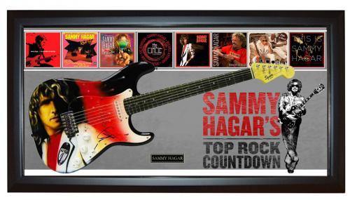 Sammy Hagar Signed Guitar + Display Shadowbox Case PSA AFTAL UACC RD