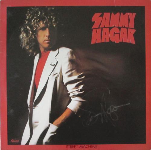 Sammy Hagar Street Machine Autographed Signed Album Authentic AFTAL COA