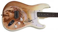 Sammy Hagar Van Halen Autographed Airbrushed Live Concert Guitar UACC RD COA AFT