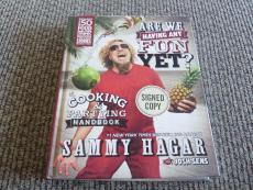 Sammy Hagar Van Halen Having Fun Yet Signed Autographed Book PSA Guaranteed #1