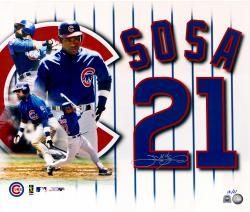 Sammy Sosa Chicago Cubs Autographed 20'' x 30'' Photograph-Limited Edition of 21 - Mounted Memories