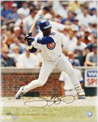 Sammy Sosa Chicago Cubs Autographed 16'' x 20'' Batting Stance Photograph - Mounted Memories