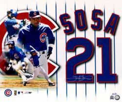 "Sammy Sosa Chicago Cubs 20"" x 24"" Autographed Photograph - Mounted Memories"
