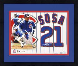 "Framed Sammy Sosa Chicago Cubs Autographed 16"" x 20"" Photograph Collage-Limited Edition of 121"