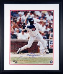 "Sammy Sosa Chicago Cubs Autographed 16"" x 20"" Framed Photograph"