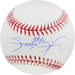 Sammy Sosa Chicago Cubs Autographed Baseball  - - Mounted Memories