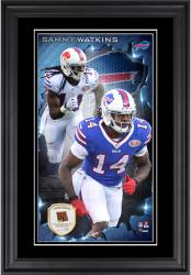 Sammy Watkins Buffalo Bills 10'' x 18'' Vertical Framed Photograph with Piece of Game-Used Football - Limited Edition of 250