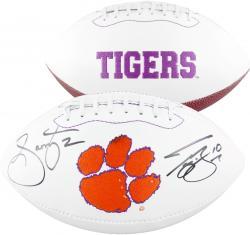 Sammy Watkins & Tajh Boyd Clemson Tigers Dual Autographed White Panel Football