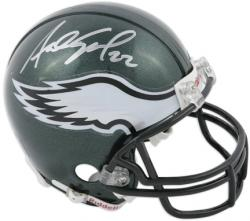 Asante Samuel Signed Mini Helmet - Philadelphia Eagles Riddell Mounted Memories