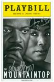 Samuel L Jackson Angela Bassett autographed Broadway Playbill Mountaintop