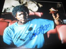 SAMUEL L JACKSON SIGNED AUTOGRAPH 8x10 PHOTO PULP FICTION PROMO COA AUTO RARE X2