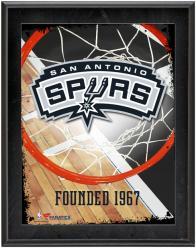 "San Antonio Spurs Team Logo Sublimated 10.5"" x 13"" Plaque"