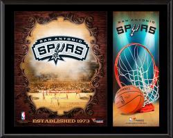 "San Antonio Spurs Sublimated 12"" x 15"" Team Logo Plaque"