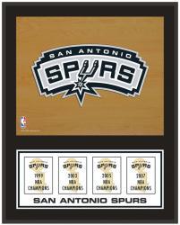 """San Antonio Spurs 12"""" x 15"""" Championship Banner Plaque"""