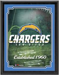 """San Diego Chargers Team Logo Sublimated 10.5"""" x 13"""" Plaque"""