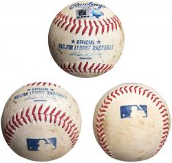 2014 San Diego Padres Game-Used Baseball - Mounted Memories