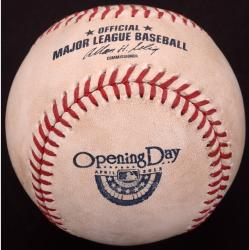 San Diego Padres vs. Los Angeles Dodgers 2013 Opening Day Game-Used Baseball